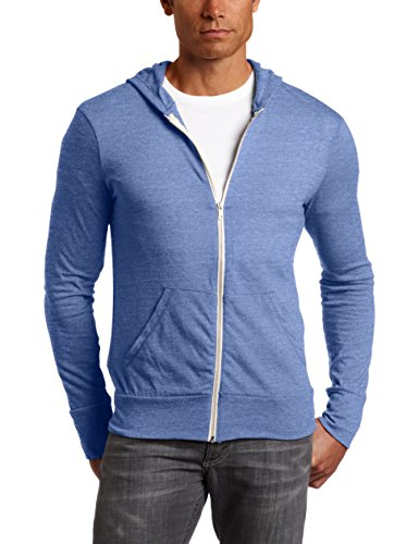 Men's Eco-Jersey Zip Hoodie ECO PACIFIC BLUE M (Knit Shirt Pacific)