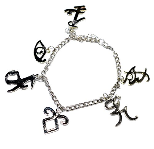 Die neuartige Classic Armband Mix, Motiv: The Mortal Instruments City Of Bones Runen Charms Armband Silber gefüllt