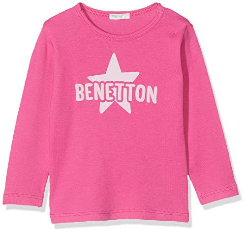 United Colors of Benetton Baby-Jungen T-s M/l Logo Stella Pullunder, Pink (Fuxia 19T), 68/74 (Herstellergröße: 68) (T-shirts Baby Stella)