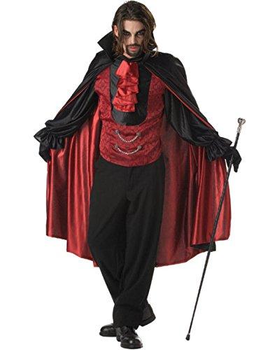 Graf Vampir Kostüm Horror Dracula Halloween Verkleidung Erwachsene Herren Large