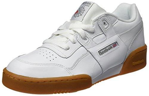 100% authentic 06bf5 bac4a Reebok Workout Plus, Chaussures de Fitness garçon, Blanc  (White Carbon Classic