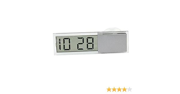 Merssavo Mini Lcd Uhr Kalender Anzeige Digital Für Auto Armaturenbrett Selbstklebend Baby