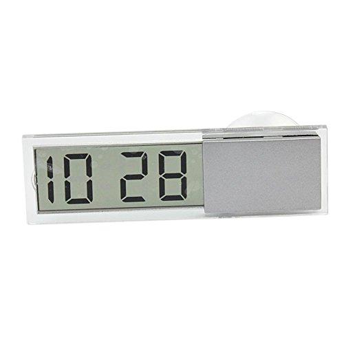 Pinzhi Digtal LCD Uhr Kalender Anzeige Funkuhr mit Saugnapf für. Auto Armaturenbrett