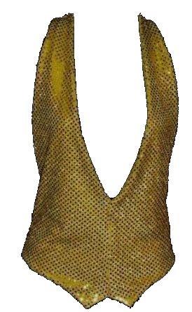 Goldfarbene Weste mit Pailletten, Gr. L-XL/42-48 Fancy Dress Unisex (Plus Dragon Kostüme Size)