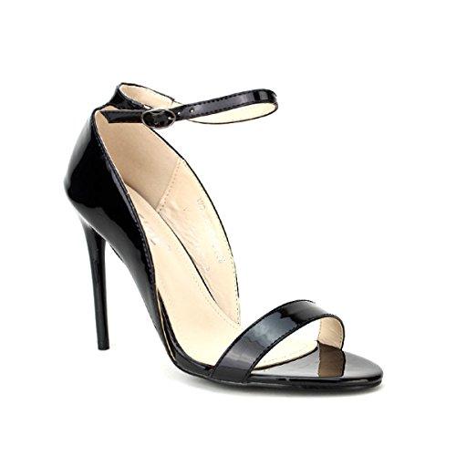 Femme Escarpin Noir Verni Cendriyon Weide Noir Chaussures qpvwxU4xX