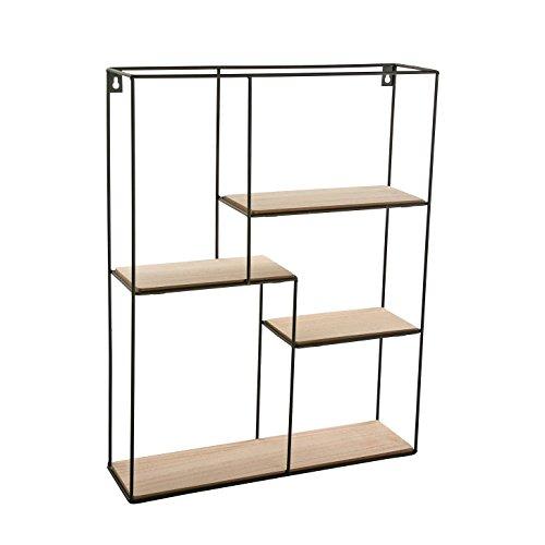 Versa - Estantería de madera 40x11x50.5 cm con 4 estanterías