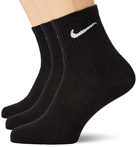 Nike Herren Everyday Lightweight Crew Trainings Socks (3 Pairs) Socken, Schwarz (black/White), 34-38 (Herstellergröße: S)