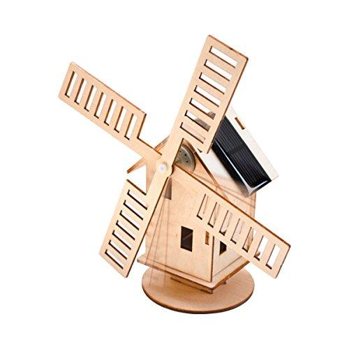 Solar-Windmühle , Bausatz für zwei Solar Windmühlen, mit bebilderter Anleitung