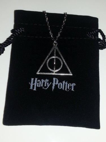 Island Gifts - Harry Potter Heiligtümer des Todes-Dreieck Silber Charm Halskette - Exklusive HARRY POTTER Geschenkbeutel -