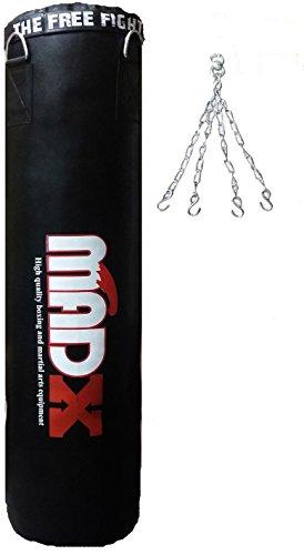 Madx Saco de boxeo de 152,4 cm, color negro, incluye cadena
