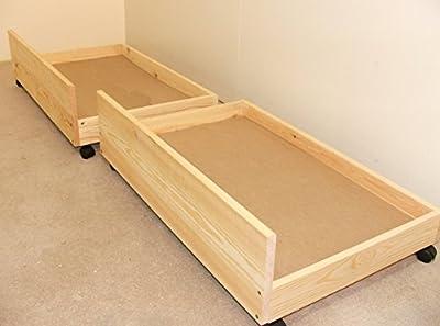 Under bed storage drawers - set of two storage underbed draws