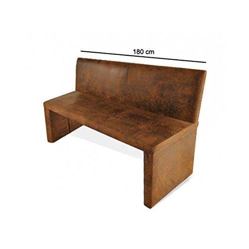 SAM Esszimmer Sitzbank Family Wilson in brauner Wildlederoptik, 180 cm Breite, Sitzbank mit pflegeleichtem SAMOLUX Bezug, angenehmer Sitzkomfort, frei im...