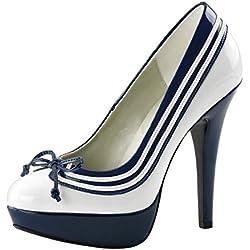 Pin up Couture Pumps, Damen, Blau (blau), Größe 42