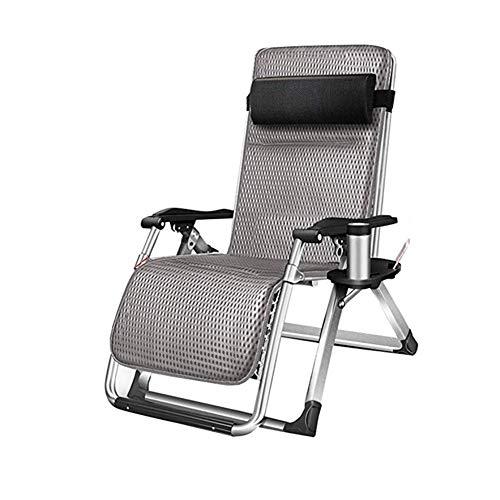 YYTL Liegen Gartenliegen Gartenstühle Mit Getränkehalter |Lounge Chair for Erwachsene Heavy Duty Folding |Tragbare stützende Bürostuhl-Tragfähigkeit von 150kg