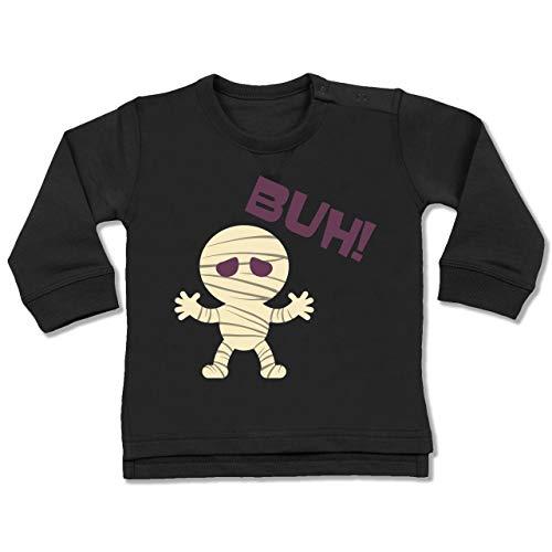 Shirtracer Anlässe Baby - Mumie Buh süß - 18-24 Monate - Schwarz - BZ31 - Baby Pullover