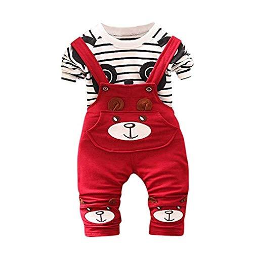Enfant en Bas âge bébé Garçons Filles Dessus d'impression de Panda + Salopette Ensemble de vêtements Kinlene Toddler Kids Bébé Garçons Filles Panda Imprimer Tops + Pantalons Salopettes Outfit