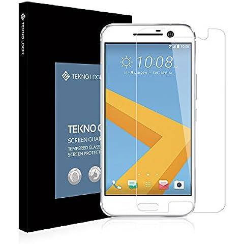 HTC 10Protector de pantalla de cristal templado por Tekno Logik–Ultra Thin [0.33mm] Top Dureza [9H]–[resistente a los Arañazos] [Colocación] [Revestimiento oleofóbico] mejor protección de la pantalla para HTC