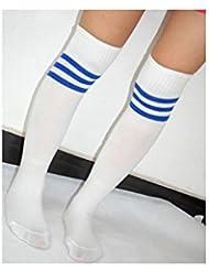 Calcetines–blanco/azul–Pro 10