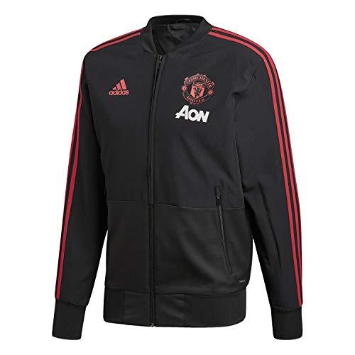adidas Herren Manchester United FC Presentation Jacke, Black/Blaze Red/Core Pink, M - United Manchester Pullover