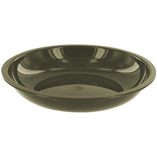 Highlander Deep Bowl Kunststoffteller, Oliv, 20 cm (4 Deep Bowl)
