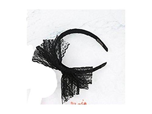 (TjcmSs Niedlich Party Lace Bow Stirnband Haarband 80er Jahre Kostüme für Frauen)
