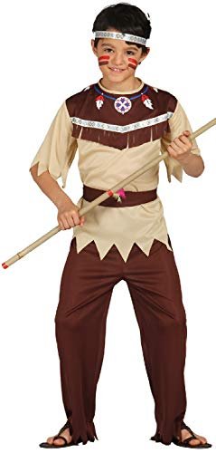 Kostüm Indian Native Chief - Boys Native American Indian Chief Warrior Historical World Book Day Week Fancy Dress Costume Outfit (7-9 years)