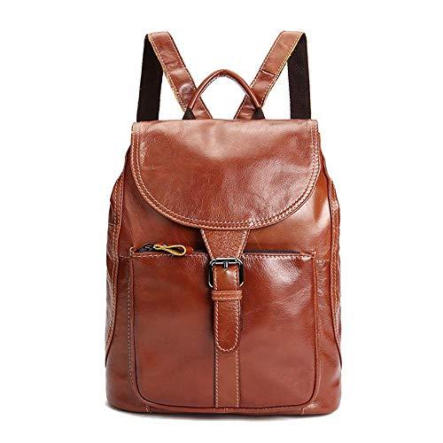 ACZZ Geniune Leder Mode Rucksack Geldbörse Casual Schultaschen für Frauen - Women 'S Leder Rucksack Casual Daypack Handtaschen für Damen Mädchen -