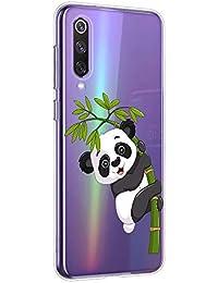 Oihxse Cristal Compatible con Google Pixel 4 Funda Ultra-Delgado Silicona TPU Suave Protector Estuche Creativa Patrón Panda Protector Anti-Choque Carcasa Cover(Panda A3)