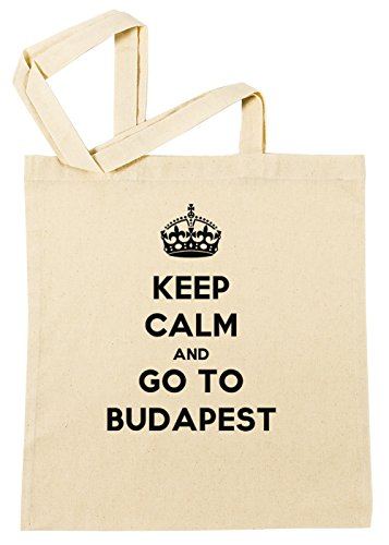 Erido Keep Calm and Go to Budapest Einkaufstasche