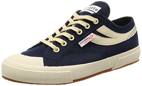 Superga 2750-Cotu Panatta, Baskets Basses Mixte Adulte Navy-Ecru