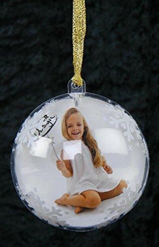4 Stk. Weihnachtskugel mit Foto - Fotokugel für Weihnachten, Weihnachtsgeschenk, Geschenk, Geschenkidee, Mann, Frau, für ihn, für sie, Fotos - Nikolausgeschenk, Wichtelgeschenk, Nikolaus, Fotogeschenk