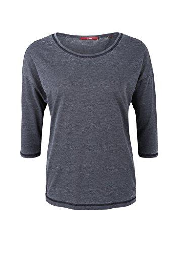 s.Oliver Damen T-Shirt Blau