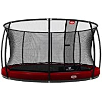 BERG® Trampolin InGround Elite mit Sicherheitsnetz Deluxe, ø 430 cm, Rot