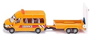 Siku - 1660 - Véhicule Miniature - Modèle À L'échelle - Fourgonnette Avec Remorque Sécurité Trafic
