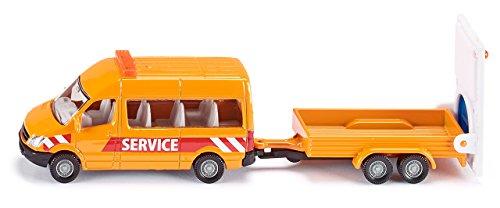Siku - 1660 - Véhicule Miniature - Modèle À L'échelle - Fourgonnette Avec Remorque Sécurité Trafic 4006874016600