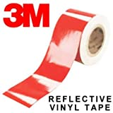 StickersLab - Pellicole adesive rifrangenti scotchlite MARCA: 3M serie 580 colore rosso (Larghezza - 100mm (10cm))