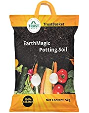 Trust basket Enriched Organic Earth Magic Potting Soil Fertilizer for Plants, 5 kg