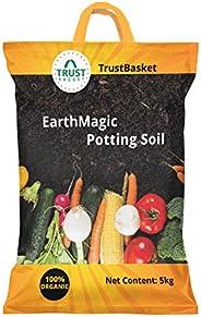 TrustBasket Enriched organic Earth Magic Potting Soil Fertilizer for Plants, 5 Kg