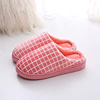 TAHRH Comfort House Slippers,Non-slip slippers, indoor home couple winter shoes @pink_4.5-5 Men