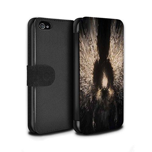 Offiziell Chris Cold PU-Leder Hülle/Case/Tasche/Cover für Apple iPhone 4/4S / Geist/Ghul Muster / Dunkle Kunst Dämon Kollektion Zeriel das Licht