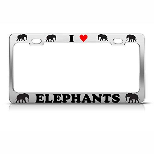 Moon Placa de Metal Cromado con diseño de Elefantes de corazón, Ideal...