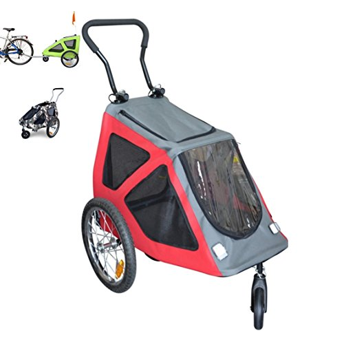 papilioshop-rex-bicycle-trailer-stroller-trolley-for-the-transport-dog-pet-with-bike-front-swivel-wh