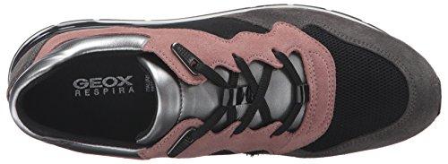 Geox Damen D Shahira A Sneakers Grau (OLD ROSE/DK GREYCA89F) U5KEcez