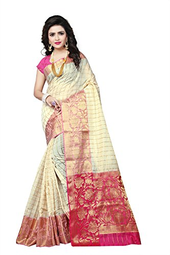 Indian Fashionista Linen Saree With Blouse Piece (Nrpt1192F_Beige_Free Size)