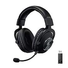 Logitech G PRO X Wireless Lightspeed Gaming Headset, Blue Voice Microfoon, 50 mm PRO-G Drivers, DTS Headphone: X 2.0 Surround Sound, 20+u Batterijduur, Leatherette Ear Pads, PC/Mac, Zwart