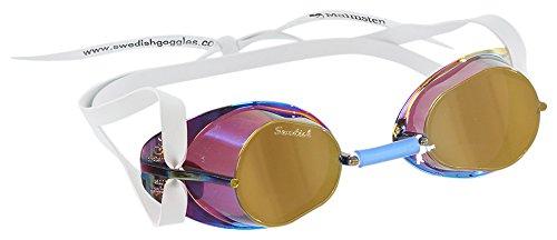 Malmsten Schwedenbrille verspiegelt Schwimmbrille, Gold… | 07394329211203