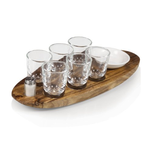Legacy-A Picnic Time Brand Cantinero 6-Shot Glass Serving Set -