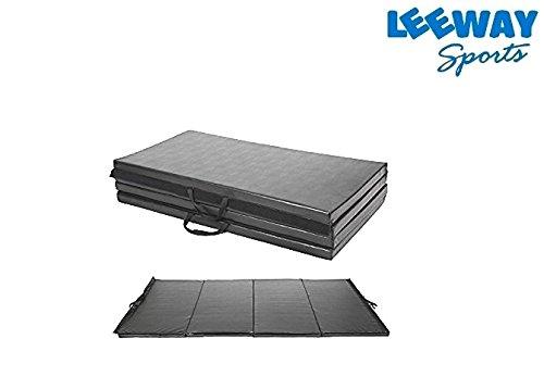 LEEWAY Exercise Yoga Mat| Gymnastics Training Tumbling High Destiny Foam Foldable 72â€x 24â€x 12 mm| Fold-able Yoga Mat| Traveling mat| Yoga Mat for Men & Women| 12 MM Thick| Mat for Home and Travel
