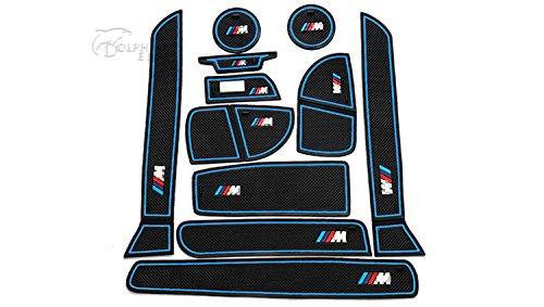 cyaletm-11-pcs-set-car-styling-interior-latex-gate-slot-pad-non-slip-cup-mat-accessories-for-lhd-bmw