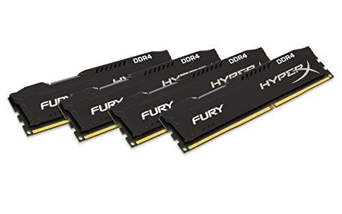 Kingston HyperX Fury HX424C15FBK4/16 16GB Arbeitsspeicher kit (4x4GB) 2400MHz DDR4 Non-ECC CL15 DIMM (Skylake compatible))